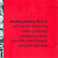 cd: sound poetry live at schule für dichtung